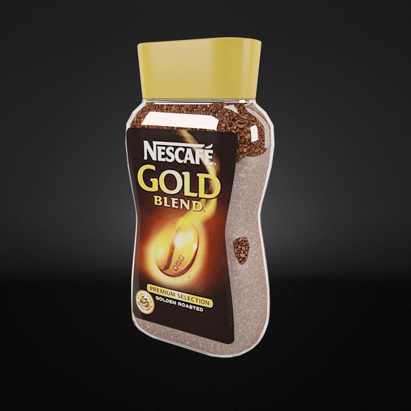 3d coffee nescafe model