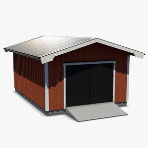 realistically garage 3d obj