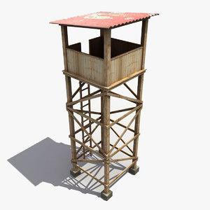 3dsmax guard tower
