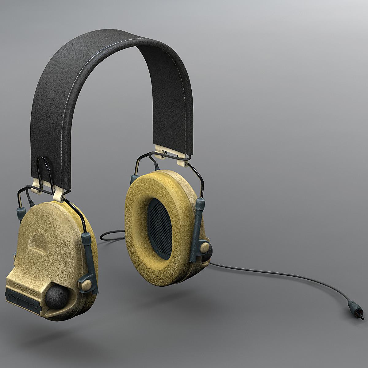military peltor com-tac ii 3d model