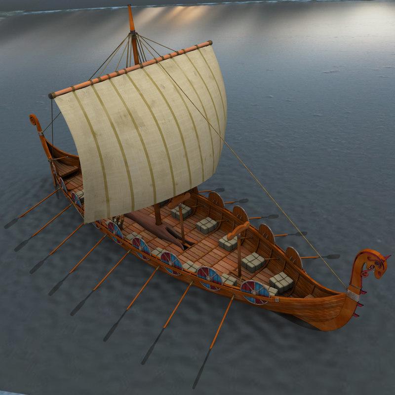 viking ship boats model
