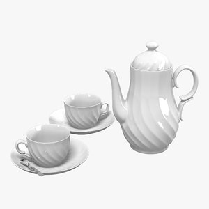 classic tea set 3d model