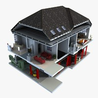 home cuttout 3d model - Home 3d Model
