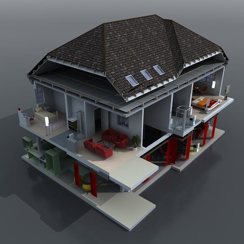 home cuttout 3d model