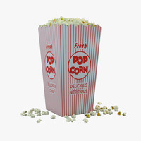 popcorns box 3d 3ds