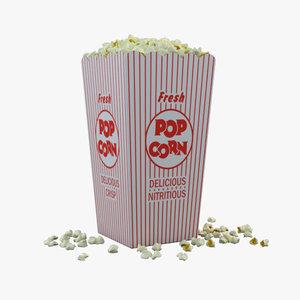popcorns box 3d 3ds