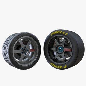 cars wheels 3d model