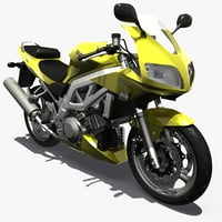 3d model of suzuki sv 1000