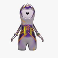 3d wenlock mascot london 2012