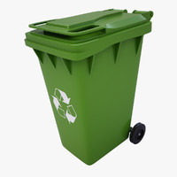 3d garbage container gp240a
