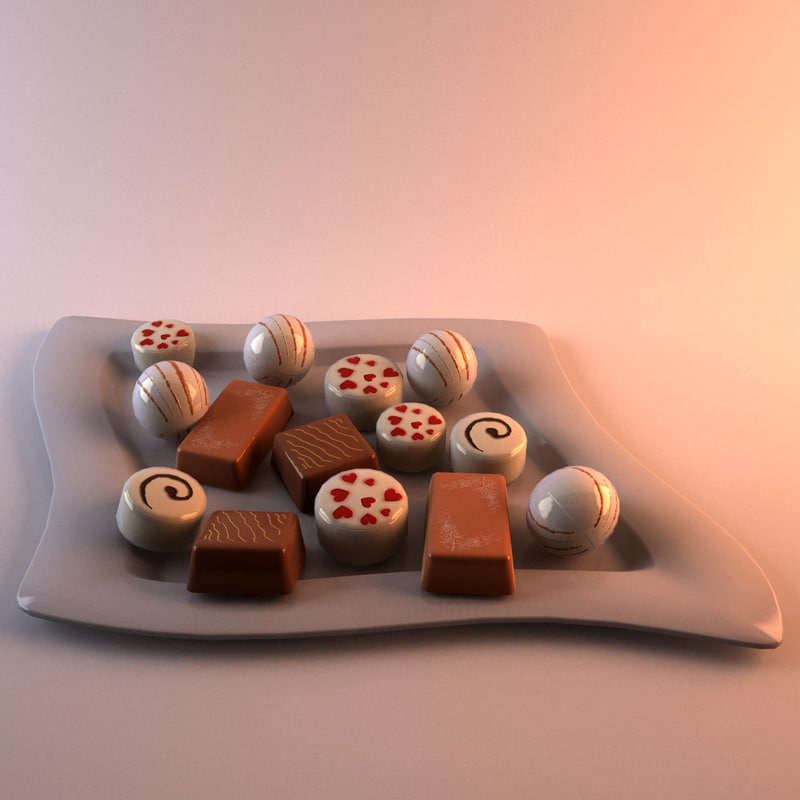 3d christmas chocolates model