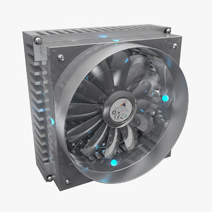 computer cooler 3d model