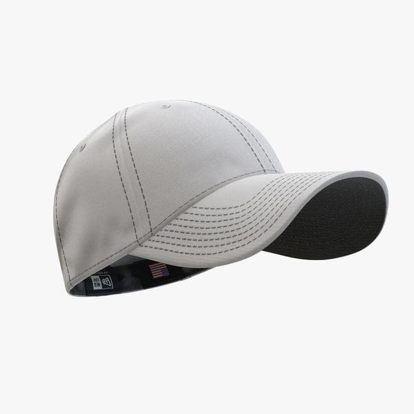 - cap silver black 3d 3ds