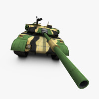 3d ztz96 type 96 tank model