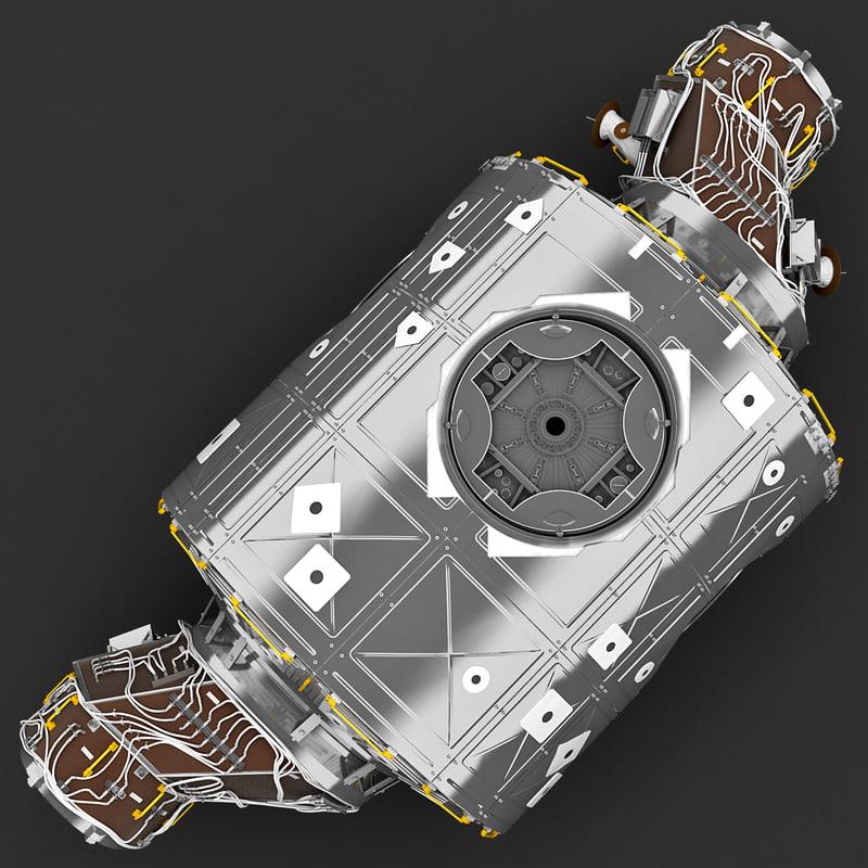3d model of international space station unity