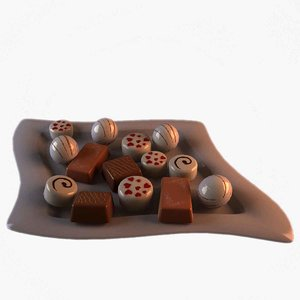 3d christmas chocolates model