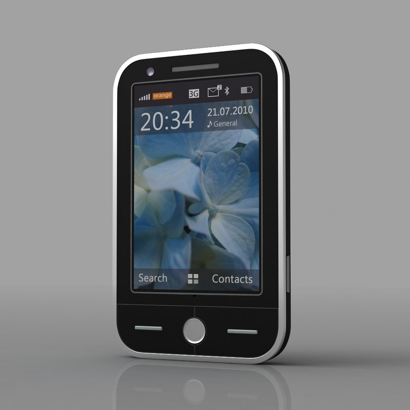 max non touch screen cell phone