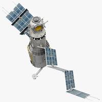 3d model space service module zvezda
