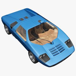 realistic supercar isdera imperator 3ds