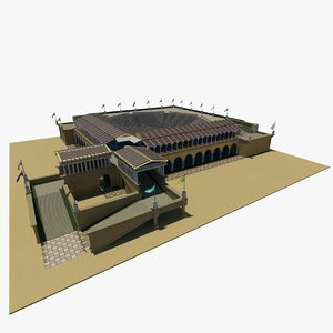 historic theater - 3d model