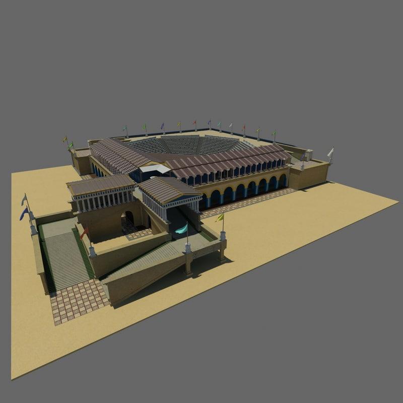 historic theater - 3d model