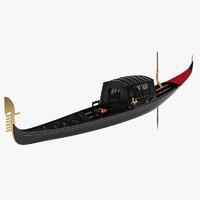 3d gondola boat model