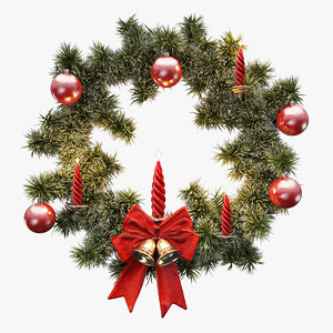 3ds max christmas wreath tree