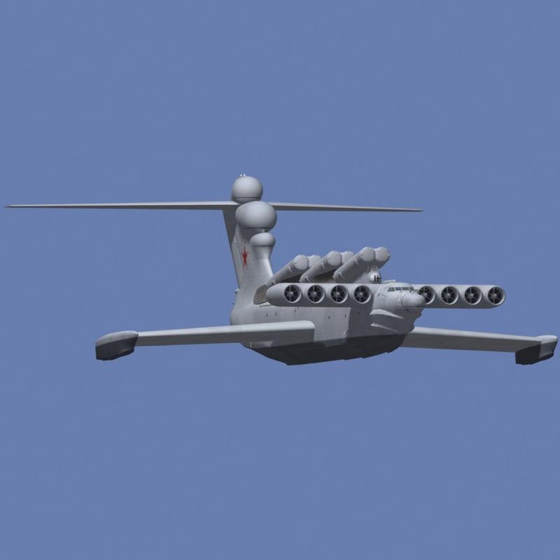 russian ekranoplan 3d model