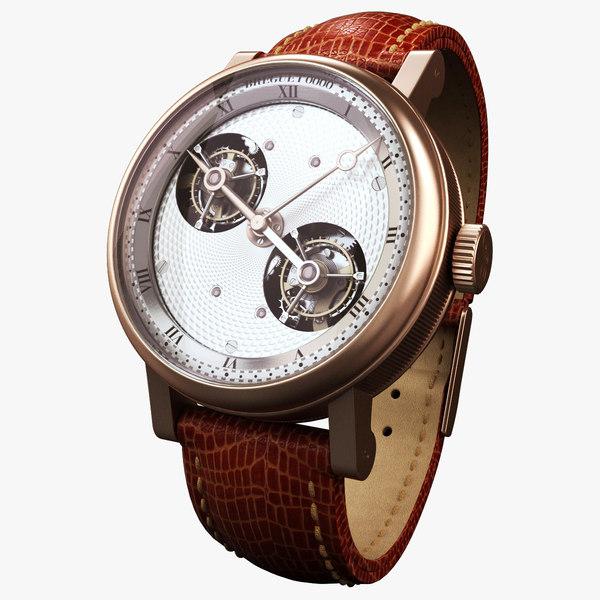 3d model breguet modeled watch