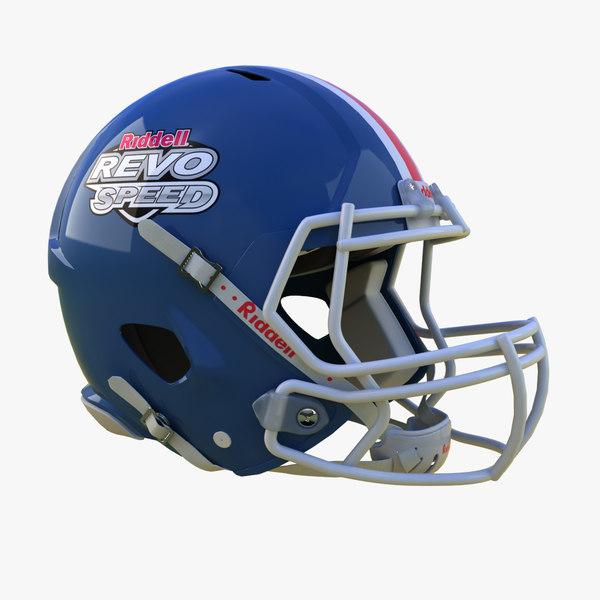 3d american football helmet riddell