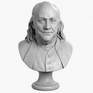 max decorative bust benjamin franklin