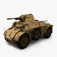 autoblinda 41 ab-41 vehicles 3d obj