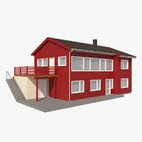 3d model suburban house rim nb