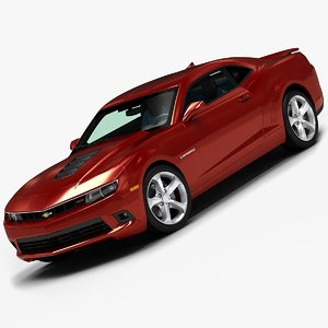 3d model of 2014 chevrolet camaro ss