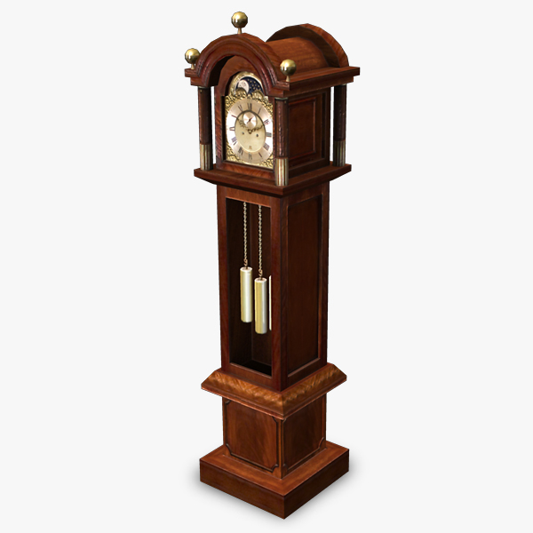 3ds max antique grandfather clock