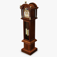 3ds max antique grandfather clock