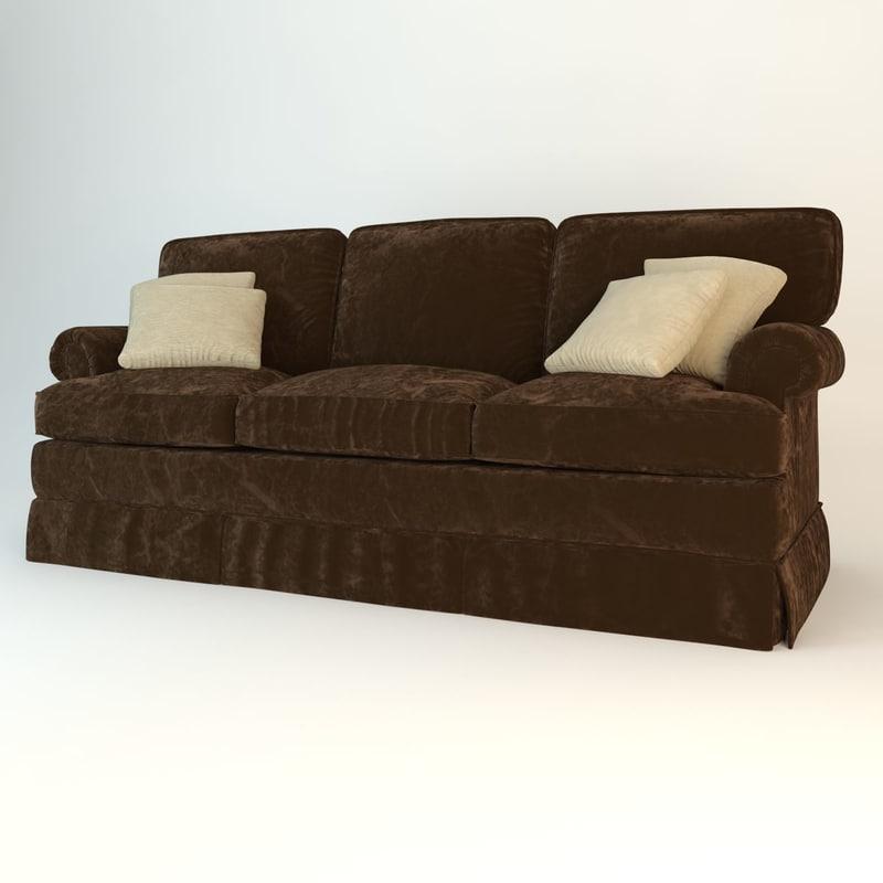 baker sofa 8864 3d model