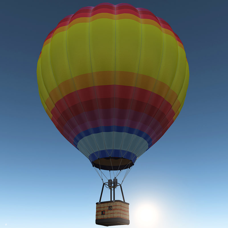 3d model air balloon 2