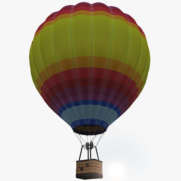 3d model air balloon 2