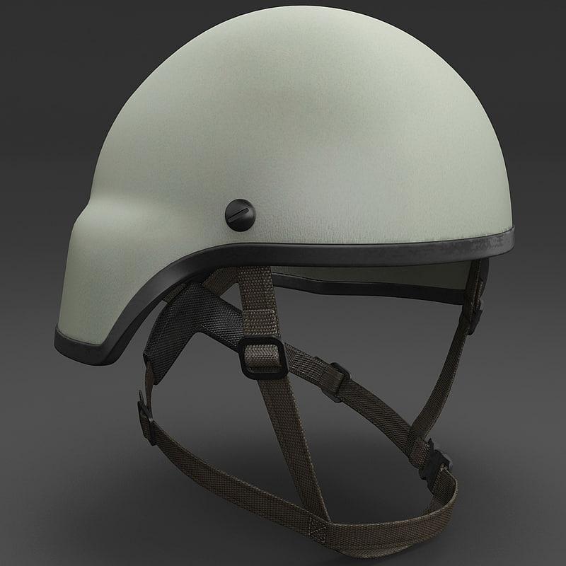 3d combat helmet mich model