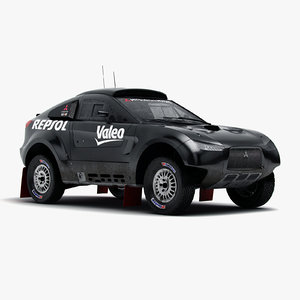 mitsubishi racing lancer mrx09 3d model
