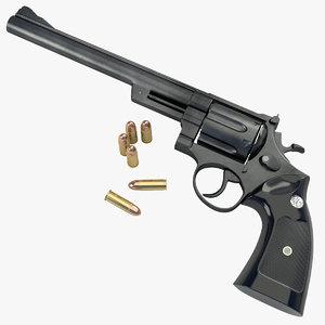 3d model magnum 44 revolver