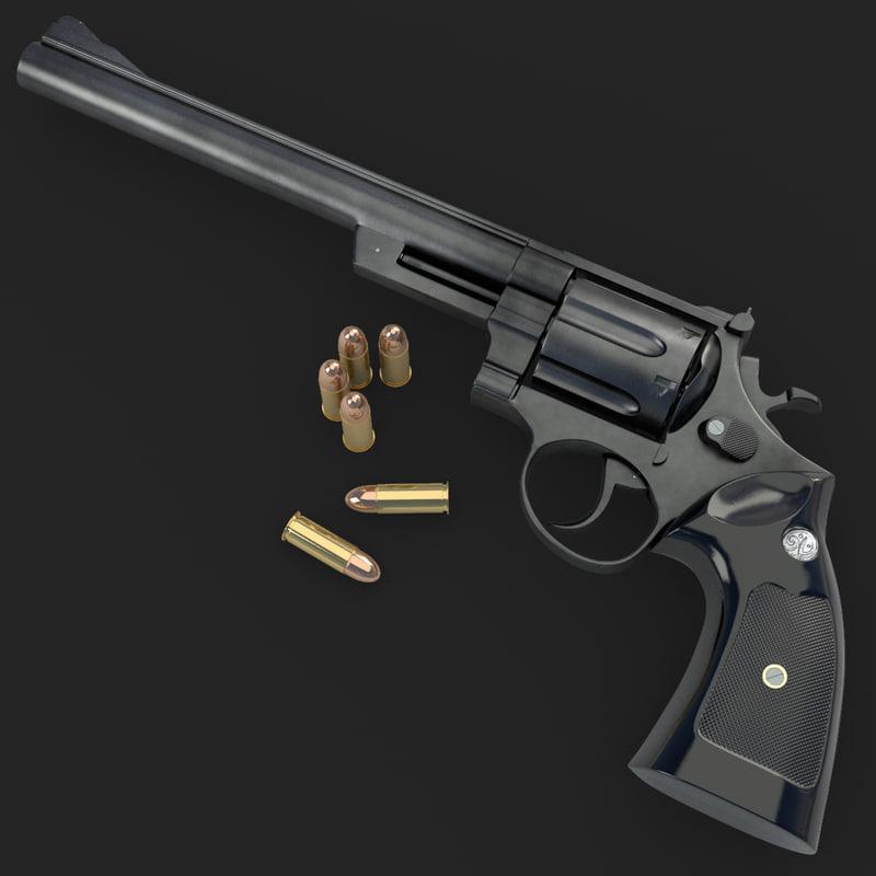 3d model magnum 44 revolver. Black Bedroom Furniture Sets. Home Design Ideas