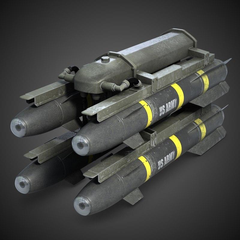 m299 missile launcher hellfire 3d model
