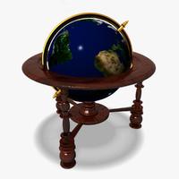 floor globe 3d model