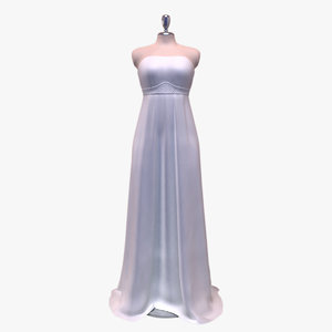 wedding dress dummy showrooms 3d model