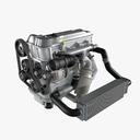 3d model generic 4 cylinder car engine