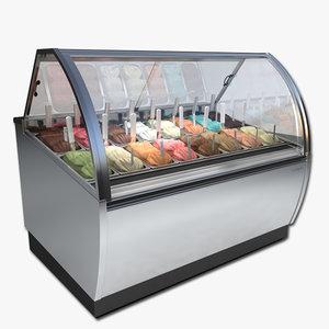 ice cream case 3d model