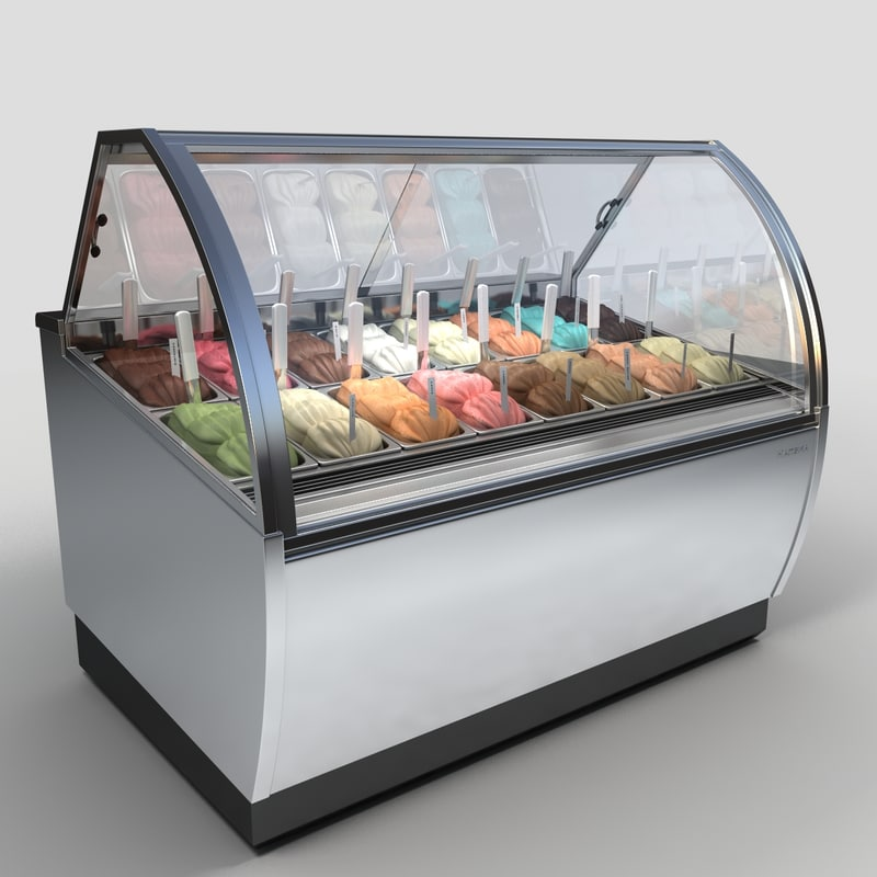 ice cream case 3d model