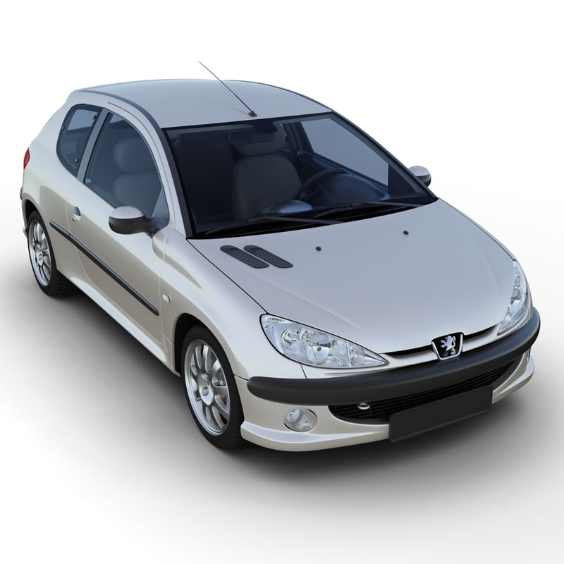 Peugeot 206 3D Models for Download | TurboSquid